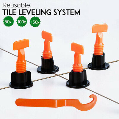 £6.99 • Buy 50-1000pcs Tile Leveling System Kit Reusable Tile Spacer Wall Floor Clips Tool