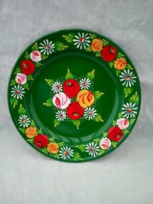 £16 • Buy Green Roses And Castles Hand Painted Enamel Dish Barge Ware #02