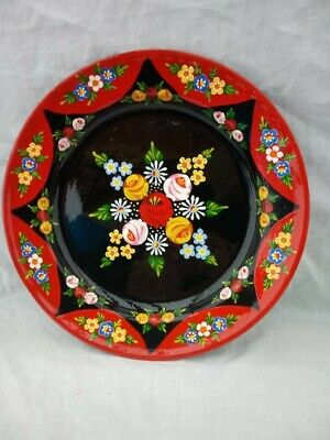£17 • Buy Red / Black Roses And Castles Hand Painted Enamel Dish Barge Ware #01