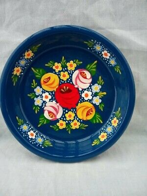 £7 • Buy Blue Roses And Castles Hand Painted Terracotta Pin Dish Barge Ware #01