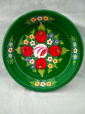 £7 • Buy Green Roses And Castles Hand Painted Terracotta Pin Dish Barge Ware #01