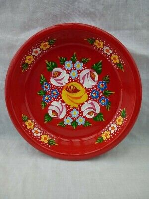 £7 • Buy Red Roses And Castles Hand Painted Terracotta Pin Dish Barge Ware #01