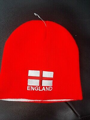 £4.50 • Buy Team England Reversible Colour Red + White Beanie Winter Hat One