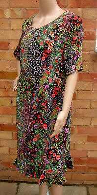 £39.99 • Buy Caroline Charles Flora Floral Printed Silk Midi Dress Size 16 New Without Tags