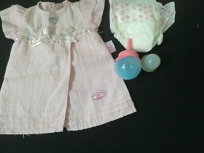 £8 • Buy Baby Annabell Pink Dress Bottle Cap And Nappy 18in