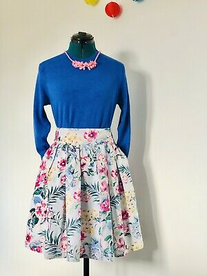 £18.99 • Buy Cath Kidston Stylish Tropical 🌴 Skirt Size 12 Nice Condition Beautiful Colours