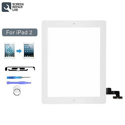 £9.99 • Buy For IPad 2 Touch Screen Digitizer Replacement Front Glass White+Home Button+IC
