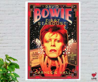 $29.40 • Buy David Bowie & The Spiders From Mars Ziggy Stardust Music Concert Poster