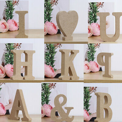 £2.57 • Buy A-Z Alphabet Vintage Large Wooden Letters Word Personalised Freestanding Block A