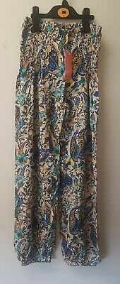 £6.80 • Buy BNWT Lovely Ladies Harem Style Patterned Trousers Elastic Waist Size 10/12