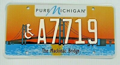 $39.99 • Buy Colorful  Mackinac Bridge Type 1 Handicapped Wheelchair License Plate   A 7719