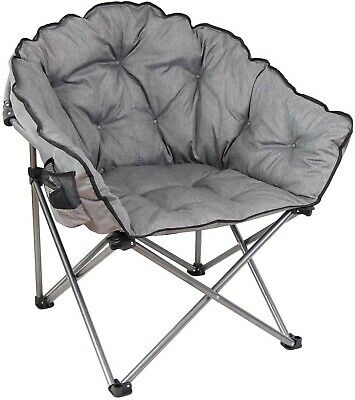 $65 • Buy Mac Sports Folding Portable Padded Outdoor Club Camping Chair With Bag, Gray 375