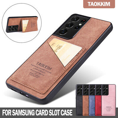 AU13.99 • Buy For Samsung Galaxy S21 S20 FE Ultra S10 Plus Case Leather Wallet Card Slot Cover