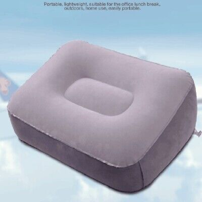 AU7.20 • Buy Soft Footrest Pillow PVC Inflatable Foot Rest Pillow Cushion Air Travel Offic HF