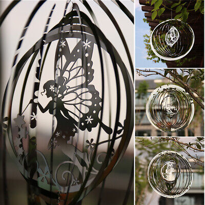 AU26.99 • Buy 3D Metal Wind Chimes Rotating Fairy Wind Chimes Spinners Hanging Outdoor Decor