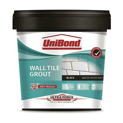 £12.70 • Buy UniBond UF Anti-Mould Wall Tile Grout 1.38kg Ready Mixed Waterproof 3.2 M2 Black