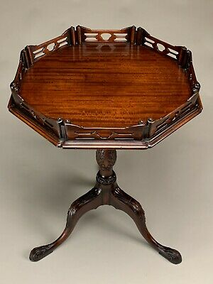 $395 • Buy Beautiful Mahogany Queen Anne Style Tilt Top Gallery Table Or Stand.