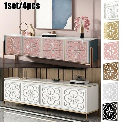 £9.28 • Buy 4x Mirror Board Removable Furniture Wall Stickers Art Home Decor Self Adhesive