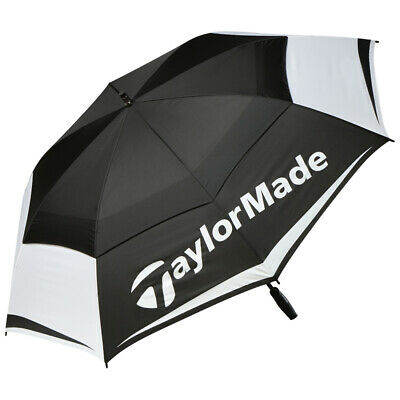 £54.54 • Buy New TaylorMade 64  Double Canopy Golf Umbrella - Black / White / Gray