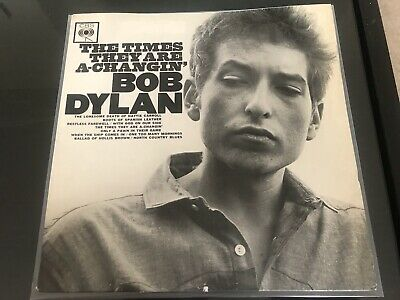 £30 • Buy Bob Dylan The Times They Are A Changin' MONO 1st UK Press 1964 Vinyl LP VG+/EX