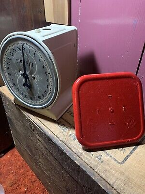 £21.56 • Buy Vintage Way Rite Hanson Scale Company Red Fully Restored Kitchen Scale