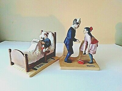 $ CDN22.66 • Buy Norman Rockwell The Cold & The First Dance Porcelain Figurines 1980