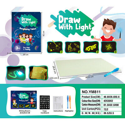 AU15.39 • Buy Light Up Drawing Fun Developing Toy Draw Sketchpad Board Portable For KIDS A3
