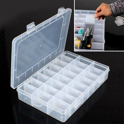 £4.89 • Buy 24 Compartment Plastic Adjustable Jewelry Beads Storage Case Box Equip #P5A-