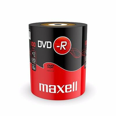 £19.45 • Buy 100 Maxell DVD-R RECORDABLE 16x Speed Blank Discs 4.7GB  100 PACK