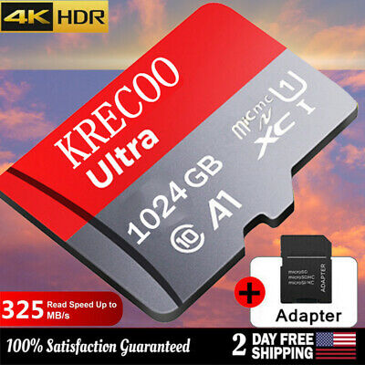 $3.99 • Buy Universal 64/128/256/1TB Micro SD SDXC TF Flash Memory Card Class10 With Adapter