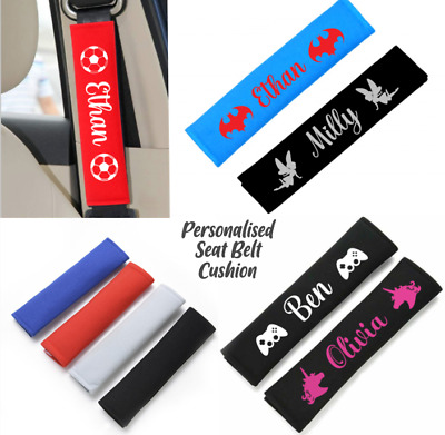£6.49 • Buy  Personalise Kids Car Seat Belt Cover Pads Car Cushioned Covers Strap Adults