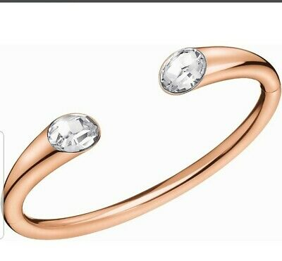 £39.99 • Buy Calvin Klein Rose Gold Plated Stainless Steel Crystal Bangle Bnwt Box Rrp £139❤