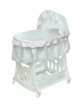 $136.77 • Buy Portable Rocking Baby Bassinet With Toybox Base Short Skirt And Pad