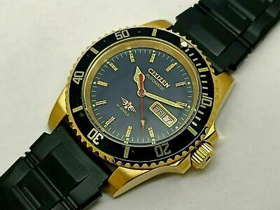 £36 • Buy Citizen Sports 8200 Automatic Men's Gold Plated Day Date Vintage Watch Run Order