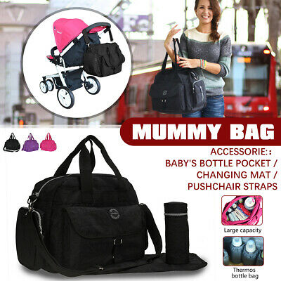 £11.99 • Buy Baby Diaper Nappy Mummy Changing Tote Backpack Hospital Bag Mat Bottle Bags UK