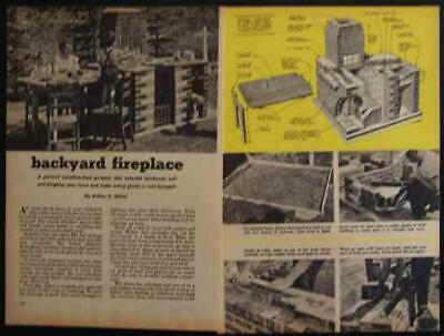£4.36 • Buy Brick FIREPLACE BBQ GRILL 1951 How-To Build PLANS