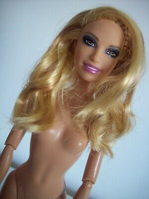 £16 • Buy Barbie OOAK Doll Blonde W Highlights Fashionista Summer Head Jointed Body Nude