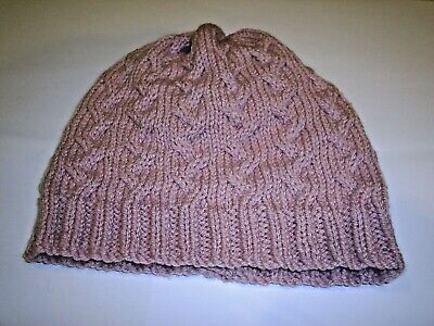 £12.99 • Buy Ladies' Hand Knitted, Cable Beanie Hat, In Blush Pink - S/M