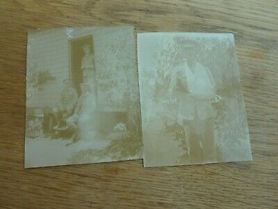 £7.99 • Buy Ww1 2 X Original Albumen Photos Wounded British Officers Named 5 X 4