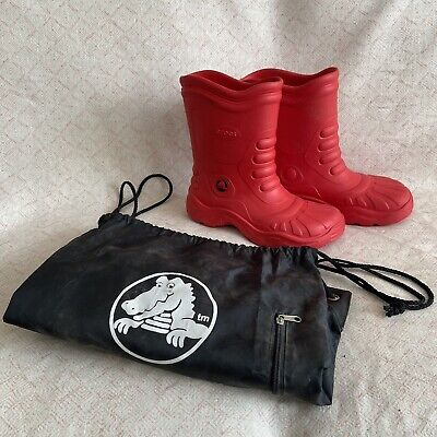 £19.99 • Buy Unisex Crocs Boots Red Mens Size 7 Women's Size 9 With Bag