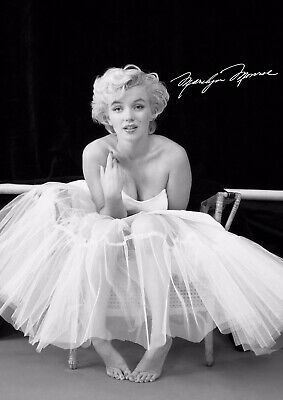 £39.99 • Buy Signed Marilyn Monroe Canvas Print Wall Art Picture Size 30x24 Inch 18mm