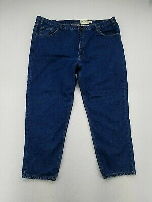 $19.98 • Buy EDDIE BAUER FLANNEL LINED JEANS INSULTATED BLUE DENIM MENS RELAXED 46 X 30 Read!