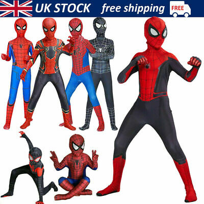 £14.99 • Buy Boys Kids Super Hero Fancy Dress Spiderman Cosplay Costume Child Clothes Outfits
