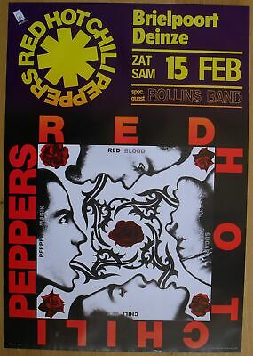 $40 • Buy RED HOT CHILI PEPPERS Original Concert Poster '91
