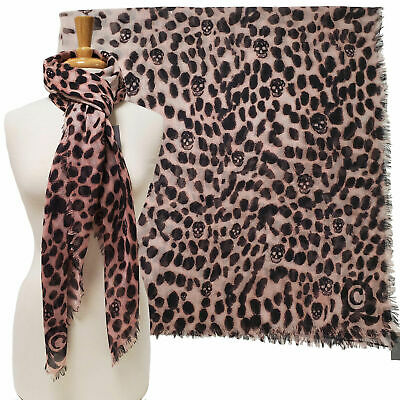 AU311.16 • Buy Alexander Mcqueen Scarf Cashmere Silk Skull And Animal Print 50  Square $725