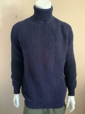 $56.38 • Buy Thick Chunky Fisherman Cable Wool Roll Neck Aran Jumper - See Description