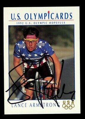 £40 • Buy Lance Armstrong #31 Signed Autograph Auto 1992 Impel U.S. Olympic Hopefuls Card