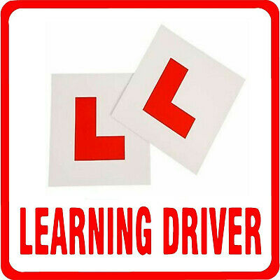 £1.97 • Buy 2x FULLY MAGNETIC L PLATES SECURE Quick Easy To Fix Learner Sign