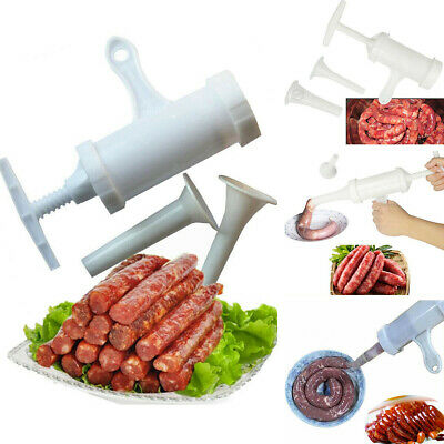 AU6.99 • Buy Plastic Household Manual Sausage Filler Stuffer Maker With 2 Funnel Kitchen Tool