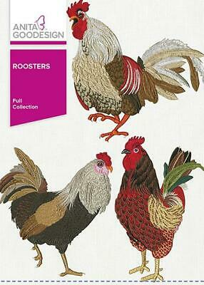 $13.99 • Buy Roosters Anita Goodesign Embroidery Machine Designs CD 157AGHD